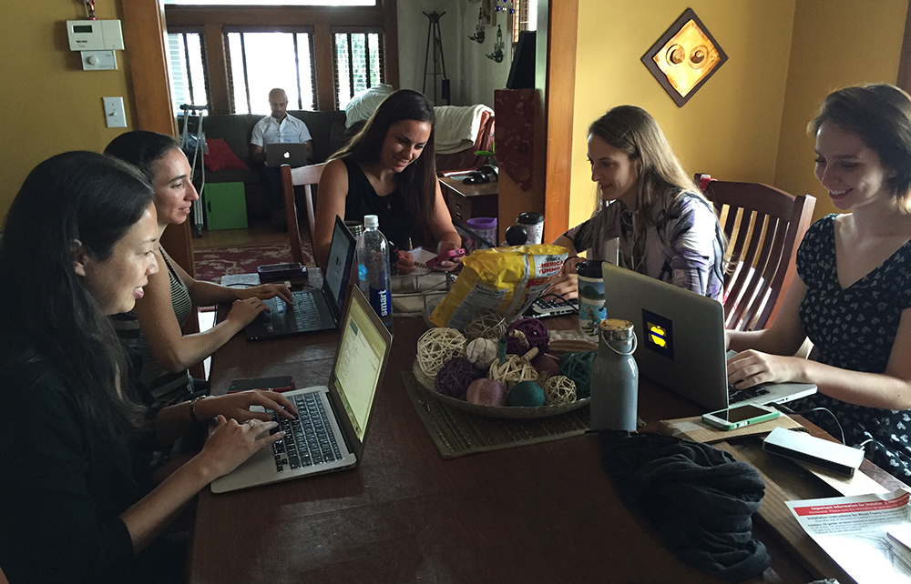 Executive Team working at the office - Kierstyn Zaykoski - Gregory Livingston - Hana Ginsburg Tirosh - Chelsea Blakeburn - Ruth Rae - Jillian Sawyer